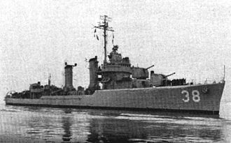 USS Thompson (DD-627) - Thompson as DMS-38 during the Korean War