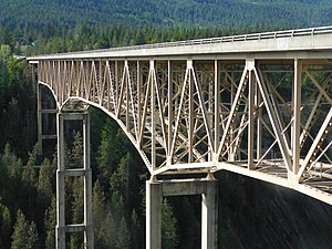 U.S. Route 2 in Idaho - US 2's bridge over the Moyie River