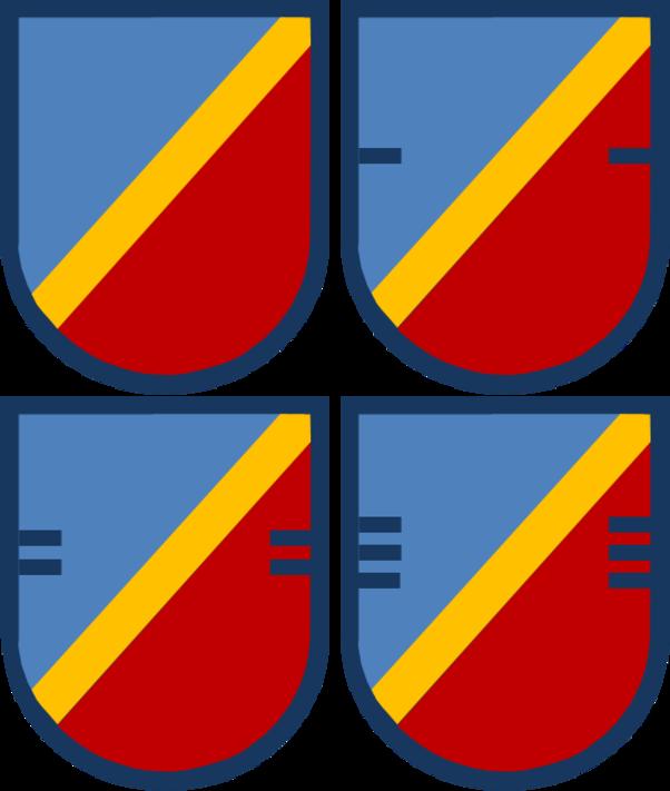 US Army 82nd Aviation Regiment Flashs