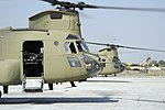 US Army CH-47 Chinook helicopters at Forward Operating Base Fenty in 2011.jpg