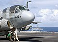 US Navy 030114-N-4965F-511 An EA-6B Prowler readies for a catapult launch.jpg