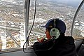 US Navy 061216-N-4774B-322 A 12-year-old patient at Naval Medical Center San Diego, observes the San Diego area from aboard the SANYO blimp gondola.jpg
