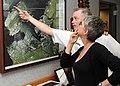 US Navy 100401-N-3666S-092 Capt. Richard Kitchens, commander of Joint Base Pearl Harbor-Hickam, shows actress Jamie Lee Curtis a map of Pearl Harbor.jpg