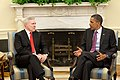 US Navy 100617-N-0000S-001 President Barack Obama meets with Secretary of the Navy (SECNAV) Ray Mabus in the Oval Office.jpg