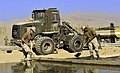 US Navy 101123-N-6436W-092 Seabees assigned to Naval Mobile Construction Battalion (NMCB) 40 work with local Afghani contractors to place concrete.jpg