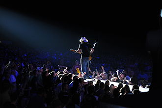 Brad Paisley - Paisley performing live at the Naval Station in Mayport, Florida, September 8, 2011