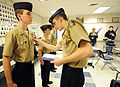 US Navy 120105-N-CD297-013 Cadets participate in a uniform inspection.jpg