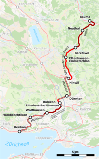 railway in the Swiss canton of Zurich, partly abandoned and partly preserved