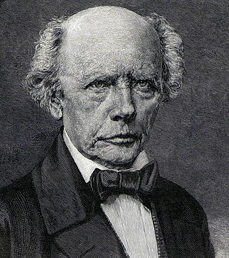Ludwig Uhland - Excerpt of an 1887 engraving after a drawing by Rudolf Huthsteiner
