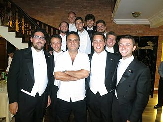Ujwal Ghimire - Ghimire with the Whiffenpoofs of Yale University, United States