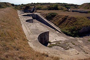 RML 9 inch 12 ton gun - Former gun positions at Verne High Angle Battery, Portland, England