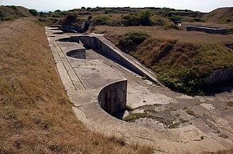 RML 9 inch 12 ton gun - Former gun positions at Verne High Angle Battery, Portland, England