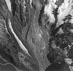 Umbrella Glacier, terminus of mountain glacier partially covered in rocks and other debris, terminus turning into rock glacier (GLACIERS 6931).jpg