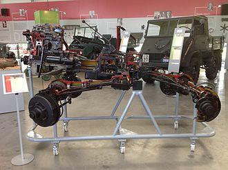 Unimog 401 - Unimog 401: Chassis cutaway model in the Unimog Museum