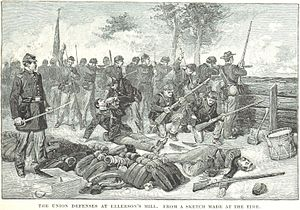 Battle of Beaver Dam Creek - Union defenses at Ellerson's Mill
