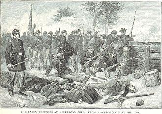 Battle of Beaver Dam Creek - Union defenses at Ellerson's Mill