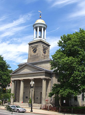 Alexander Parris - United First Parish Church, 1828, Quincy, Massachusetts -- exterior