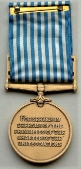 United Nations Korea Medal - Image: United Nations Service Medal (Korea), Reverse