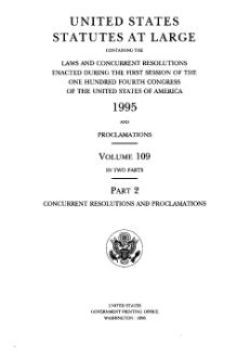 United States Statutes at Large Volume 109 Part 2.djvu