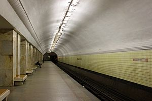 Universitet (Moscow Metro) - Platform view of the station