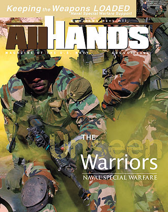 All Hands - All Hands magazine cover for the August 2004 issue