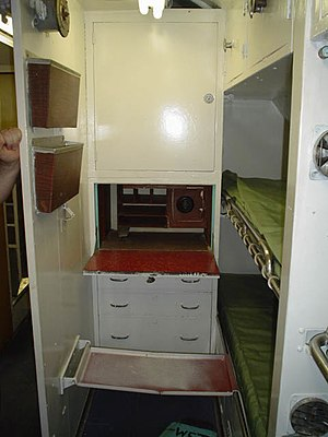 USS Cavalla (SS-244) -  The cramped officer quarters of Cavalla