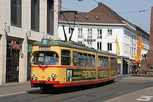 Waggon Union - Karlsruhe (VBK) GT8-60C tram built by Waggon Union