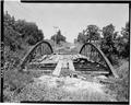 VIEW NORTH FROM SOUTH APPROACH - Keithsburg Bridge, Sixteenth Street Spanning Pope Creek, Keithsburg, Mercer County, IL HAER ILL,66-KEIBU,1-3.tif