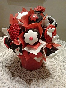 bouquet of homemade cupcakes made by chantal hanna on valentines day - Pictures Of Valentine