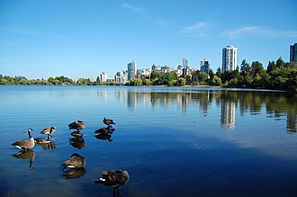 Lost Lagoon - Lost Lagoon with Downtown Vancouver in the background.