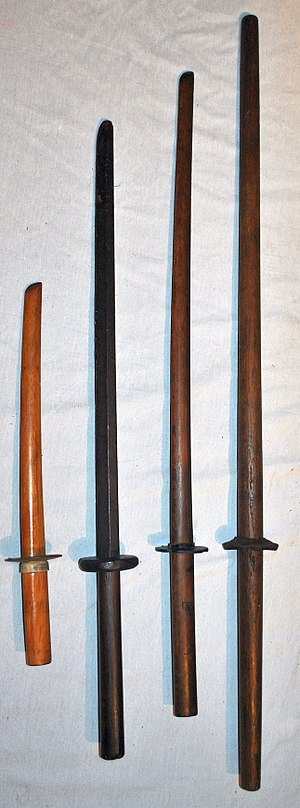 Bokken - Various types of bokken