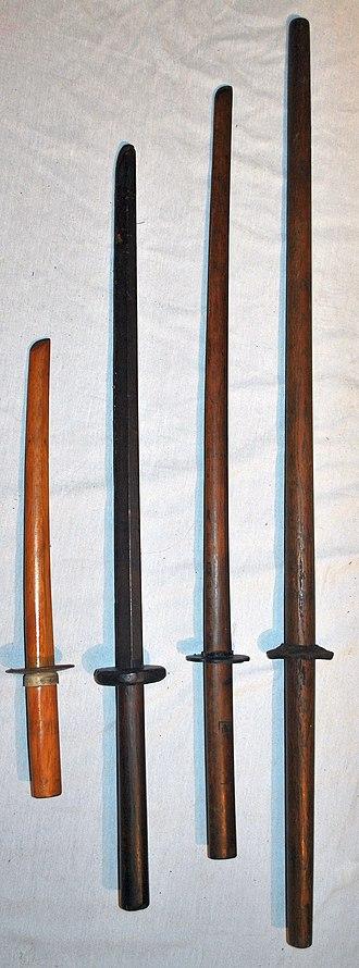 Bokken - Various types of bokken