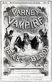 <i>Varney the Vampire</i> book by James Malcolm Rymer