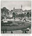 Velhagen & Klasings Volksbücher Nr. 120, Volksbücher der Erdkunde, Belgien, S. 02, Theaterplatz Lüttich, Foto Neue Photographische Gesellschaft.jpg