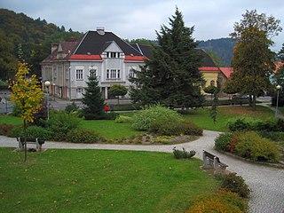 Velké Hamry Town in Liberec, Czech Republic