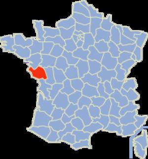 Communes of the Vendée department - Image: Vendée Position