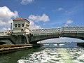 Venetian Causeway east drawbridge almost closed after having raised for boat - Miami Beach, Florida.jpg