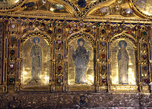 Pala d'Oro - Doge Ordelaffo Falier, the Virgin, and Empress Irene