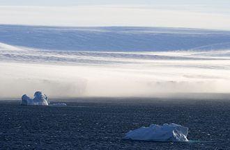 Katabatic wind - Katabatic wind in Antarctica