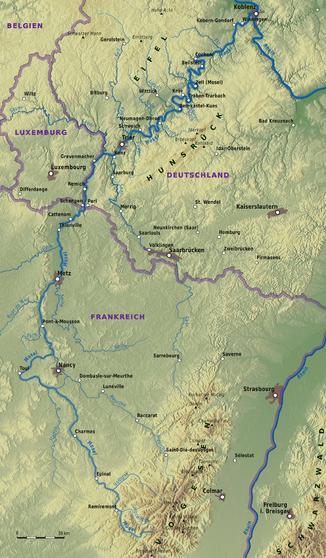 Verlaufskarte der Mosel (interaktive Karte)
