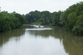 Vermilion River (Louisiana) - Vermilion River viewed from the Milton bridge.