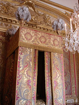 Baldachin - State bed of Louis XIV of France, Chambre du Roi, Versailles
