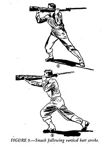 pistol whipping wikivisually Flintlock Rifles buttstroke figure 9 smash following vertical butt stroke
