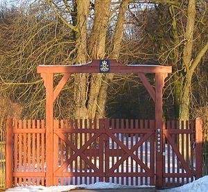 Jægersborg Dyrehave - Vesthus gate, one of the 15 entrances to Dyrehaven
