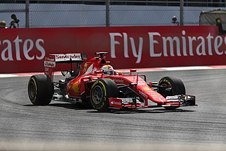 2015 Mexican Grand Prix - Sebastian Vettel during free practice on Saturday