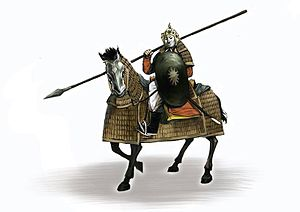 Trần dynasty - Reconstruction of a Trần-era cataphract.