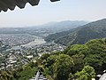 View from Tenshu of Iwakuni Castle (south).jpg