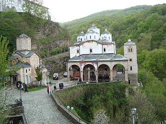 Osogovo Monastery - Osogovo Monastery with the Church of St. Joachim of Osogovo to the right and the Church of the Holy Mother of God to the left