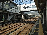 View of Sasebo Line from platform 4 of Haiki Station (North).JPG