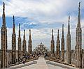 View west along Duomo roof, Milan.jpg